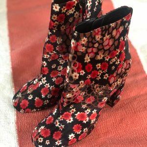 UO velvet floral booties